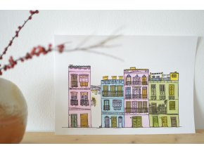Originální litografie Malaga